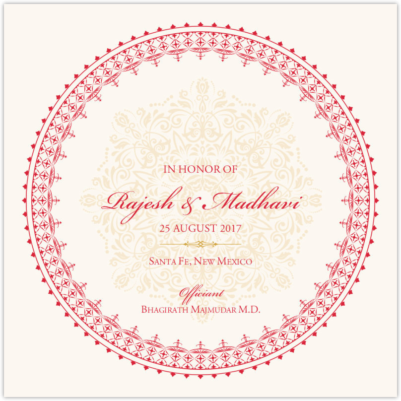 Henna Watermark Wedding Programs