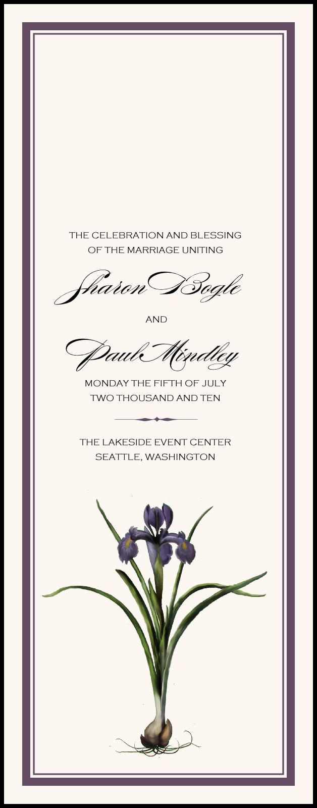 Iris Bulb Wedding Programs