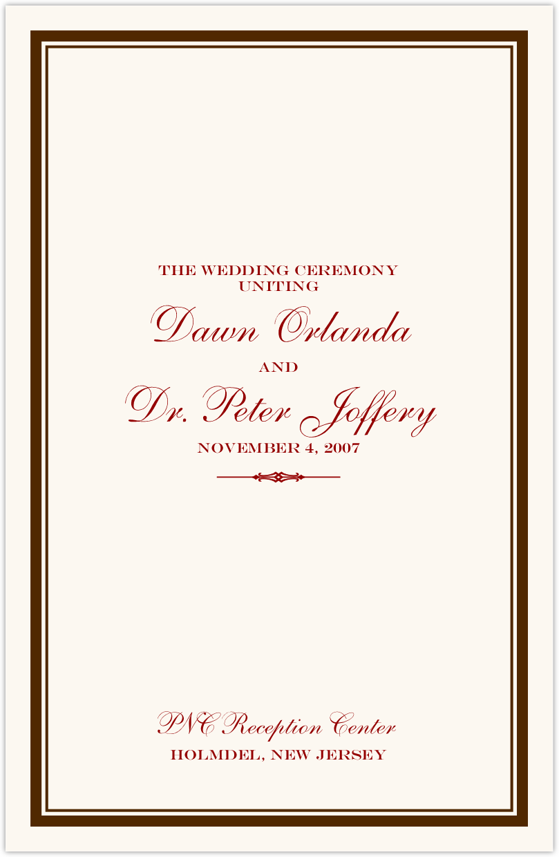 Elegance and Engravers Wedding Programs
