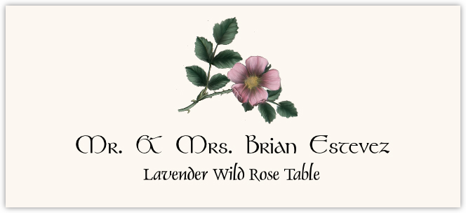 Lavender Wild Rose Place Cards