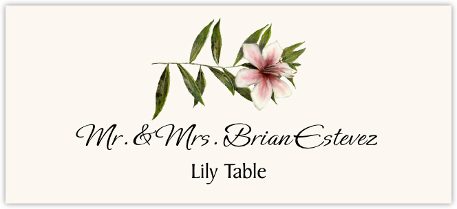 Lily Place Cards