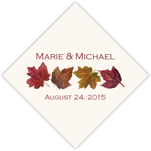 Maple Leaf Pattern Favor Tags