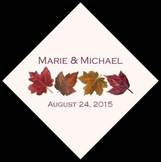 Maple Leaf Pattern Favor Tags