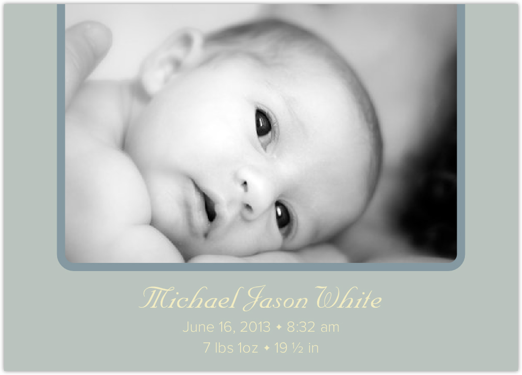 Moulin Rouge Birth Announcements