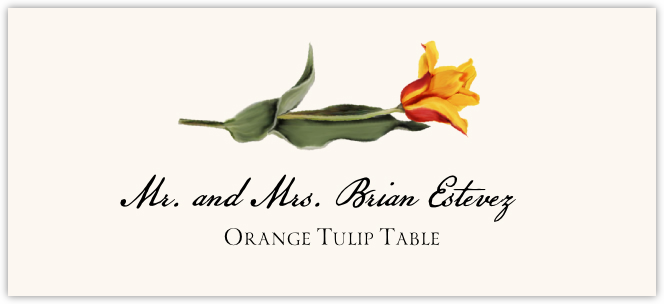 Orange Tulip Place Cards