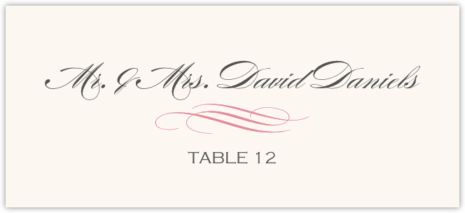 Ornate Line Flourish 0637 Place Cards