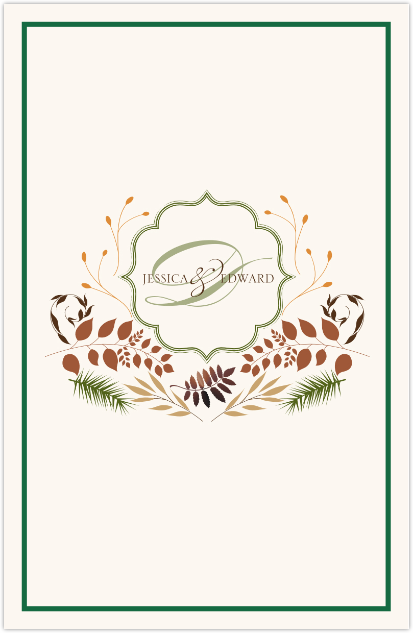 Peaceful Autumn 02 Wedding Programs