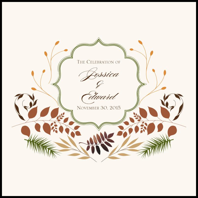 Peaceful Autumn 04 Wedding Programs