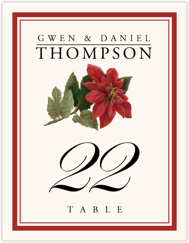 Poinsettia Table Numbers