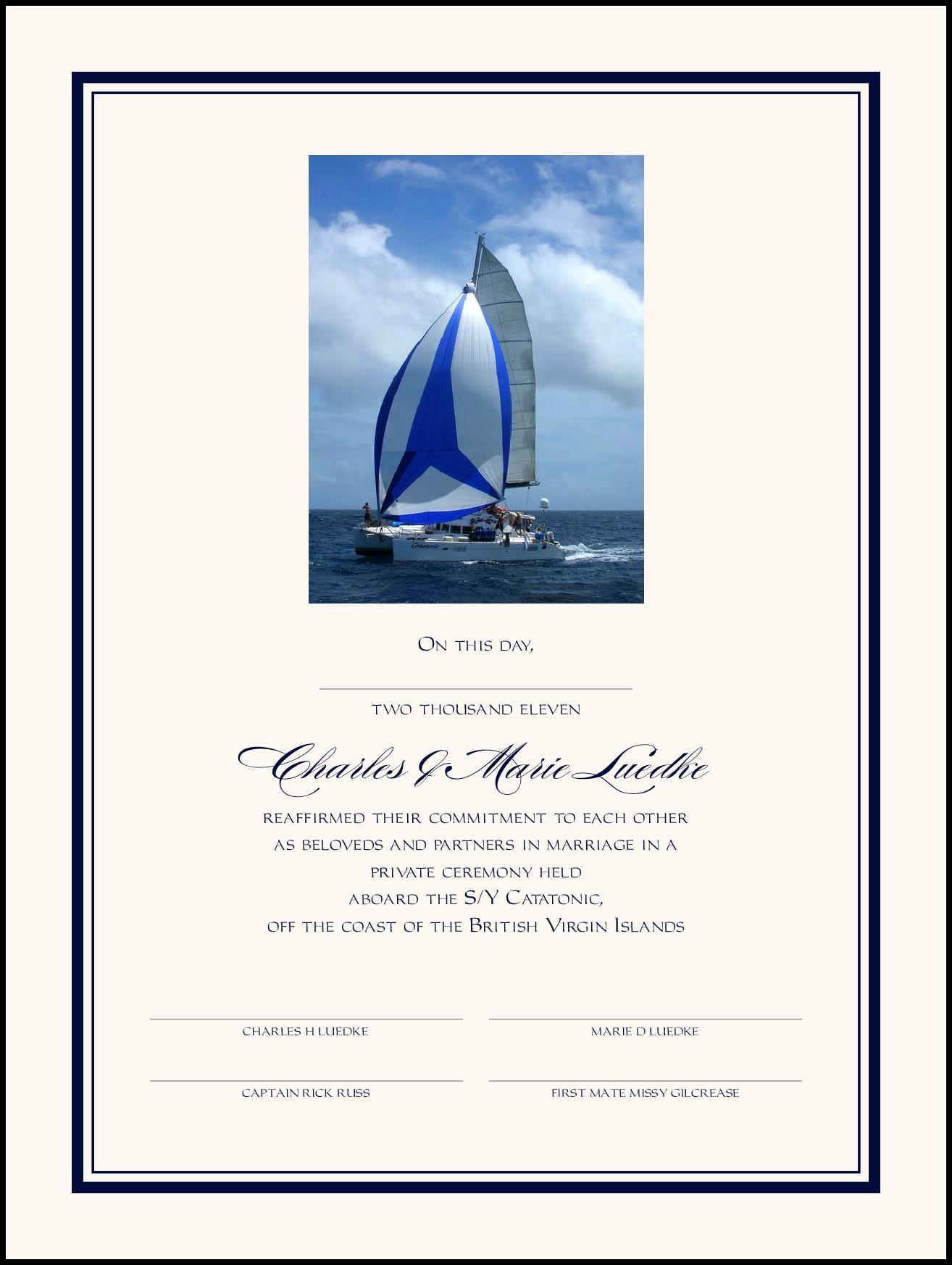 Hobbies (Photo) Reaffirmation Wedding Certificates