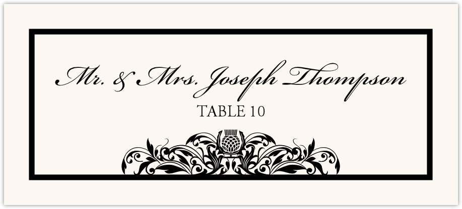Scottish Thistle Place Cards