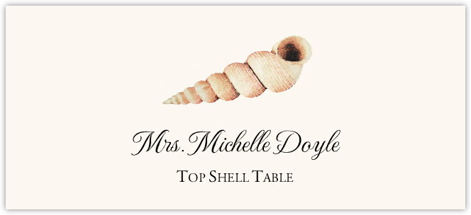 Seashell Assortment Place Cards