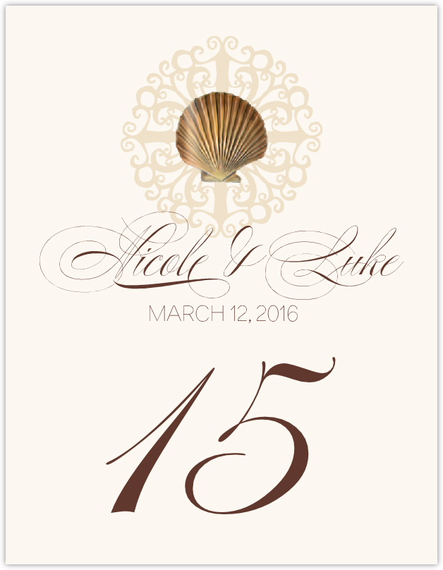 Seashell Flourish 01 Table Numbers