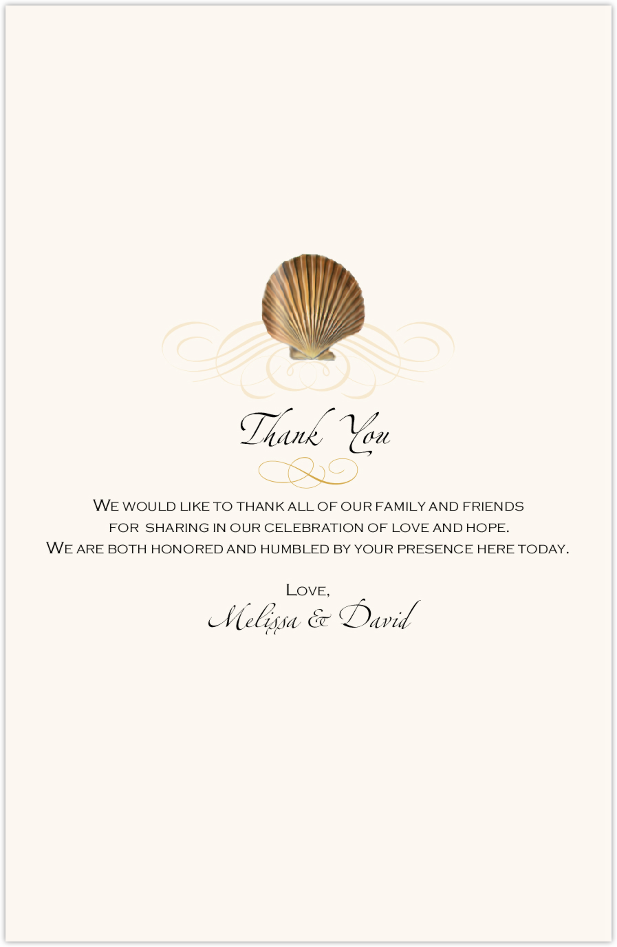 Seashell Pattern 09 Wedding Programs