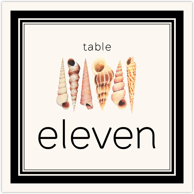 Seashell Pattern 09 Table Numbers