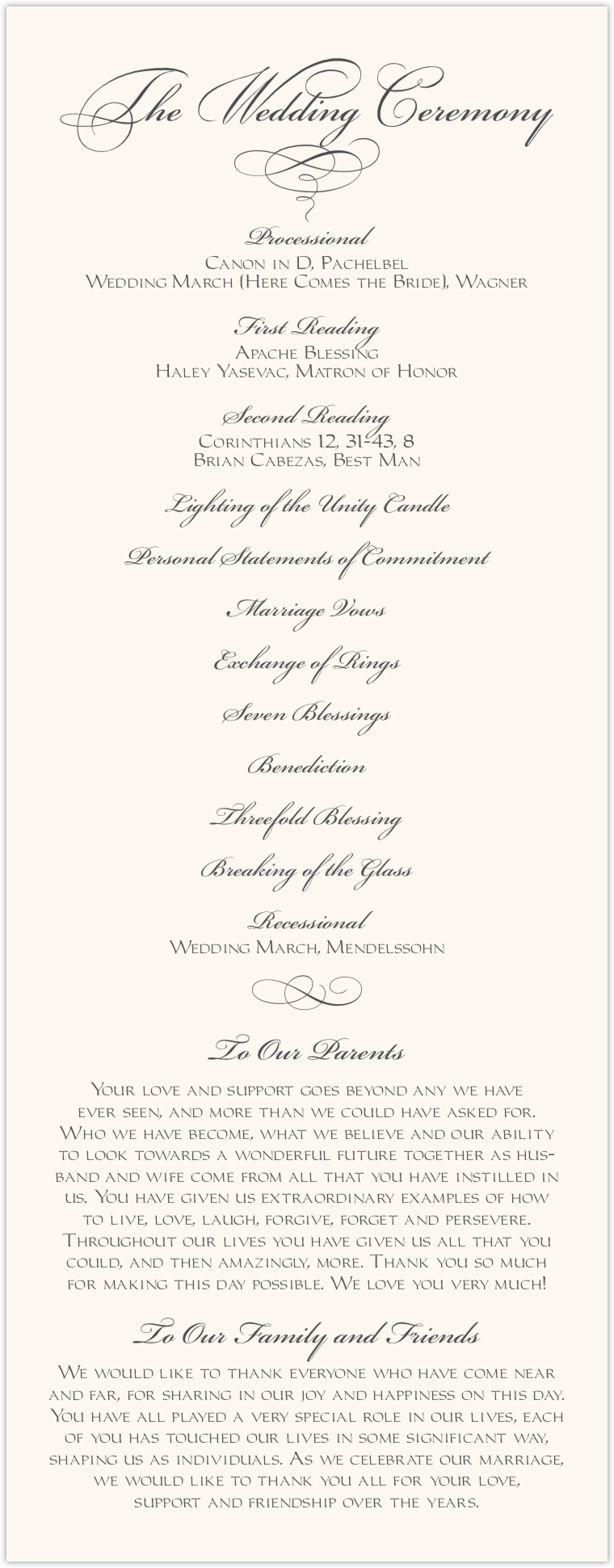 Silver Claddagh Border Wedding Programs