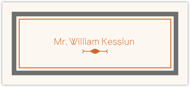 Brownstone Monogram Place Cards