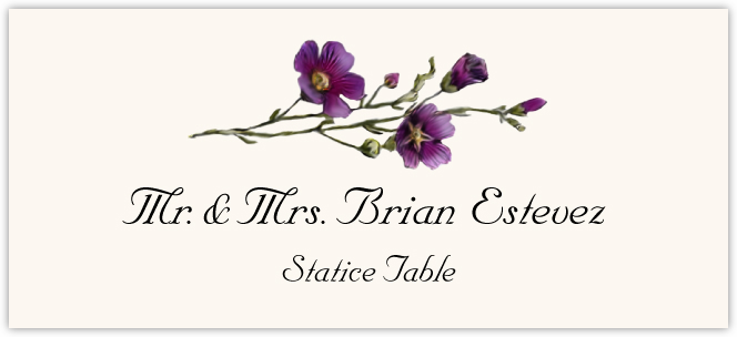 Statice Place Cards