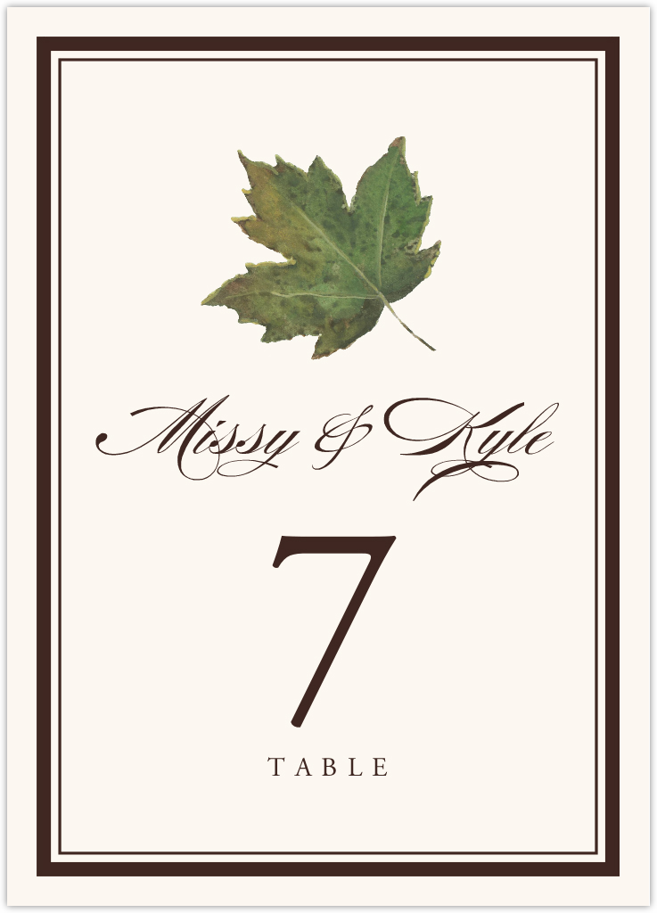 Colorful Leaves Assortment 01 Table Numbers