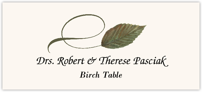 Birch Twisty Leaf Place Cards