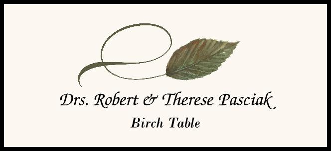 Birch Twisty Leaf Place Cards