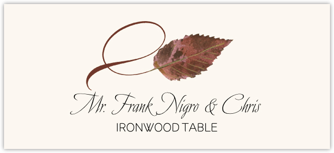 Ironwood Twisty Leaf Place Cards