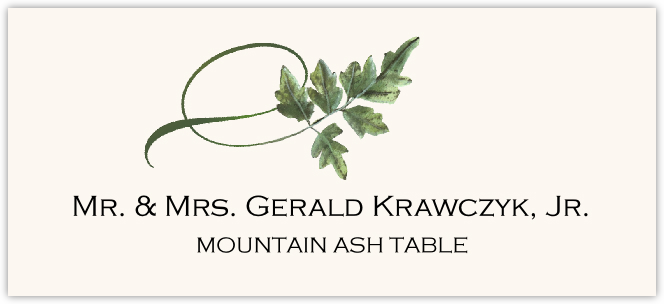 Mountain Ash Twisty Leaf Place Cards