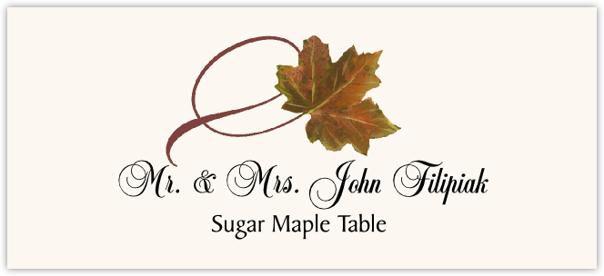 Sugar Maple Twisty Leaf Place Cards