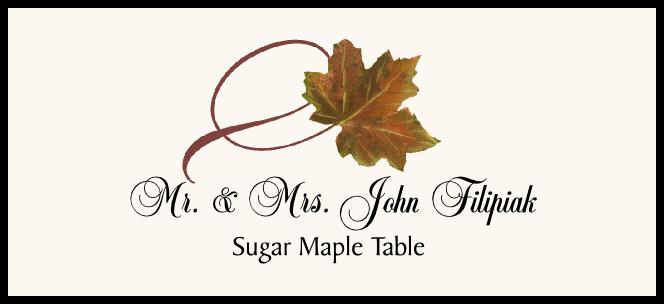 Sugar Maple Twisty Leaf Place Cards