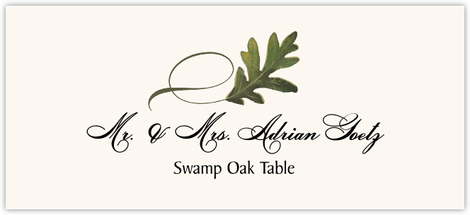 Swamp Oak Twisty Leaf Place Cards