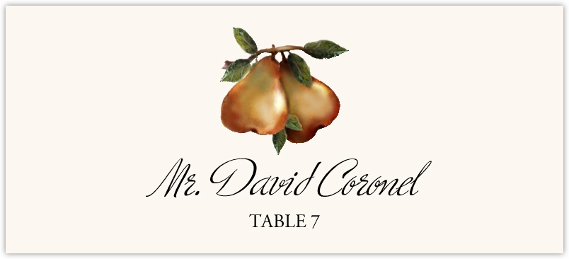 Two Pears Place Cards