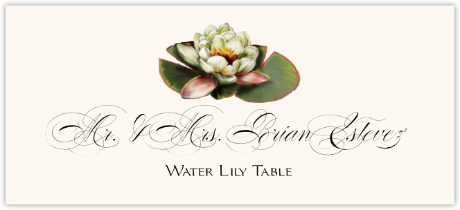 Water Lily Place Cards