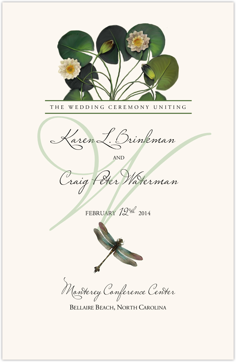 Water Lily Patch Wedding Programs