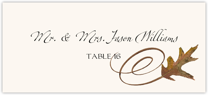 White Oak Swirl Place Cards