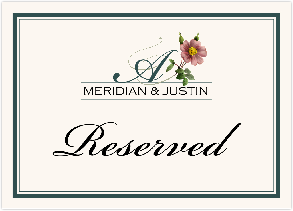 Wild Pink Rose Swirl Table Names