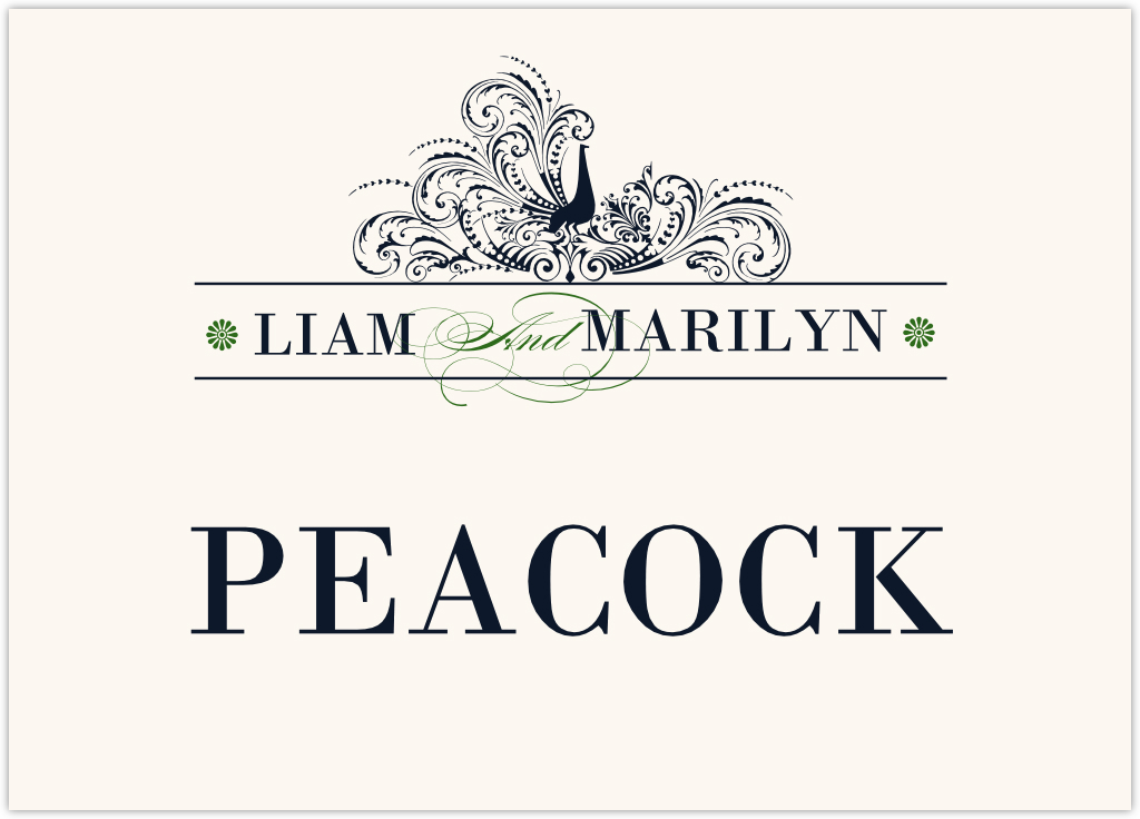 Pompous Peacock Table Names