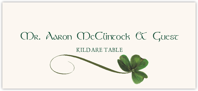 Wispy Shamrock Place Cards