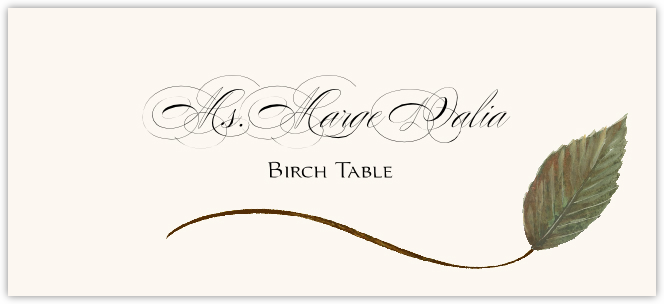 Birch Wispy Leaf Place Cards