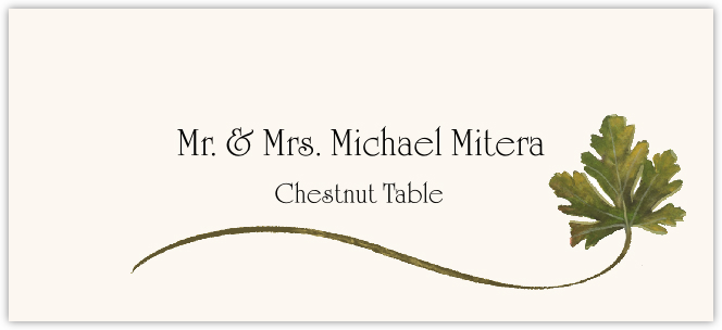 Chestnut Wispy Leaf Place Cards