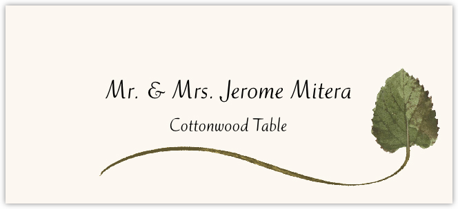 Cottonwood Wispy Leaf Place Cards