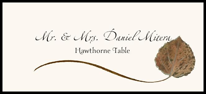 Hawthorne Wispy Leaf Place Cards