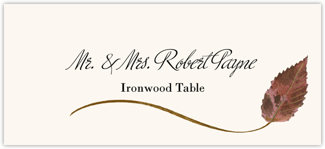 Ironwood Wispy Leaf Place Cards