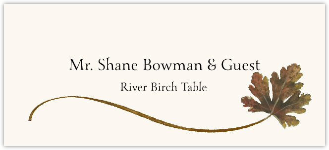 River Birch Wispy Leaf Place Cards