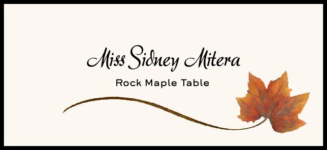 Rock Maple Wispy Leaf Place Cards
