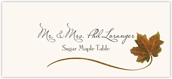 Sugar Maple Wispy Leaf Place Cards