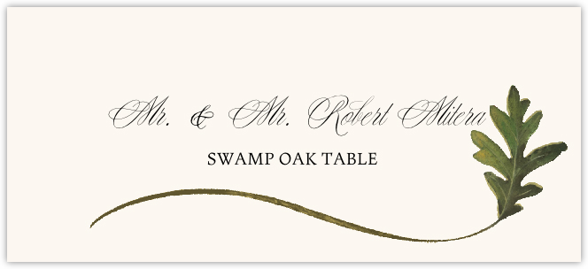 Swamp Oak Wispy Leaf Place Cards