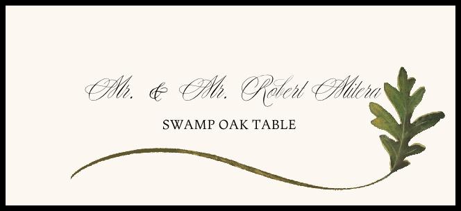 Swamp Oak Wispy Leaf Place Cards