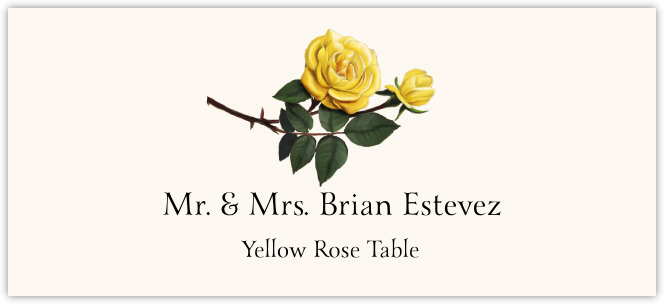 Yellow Rose Place Cards